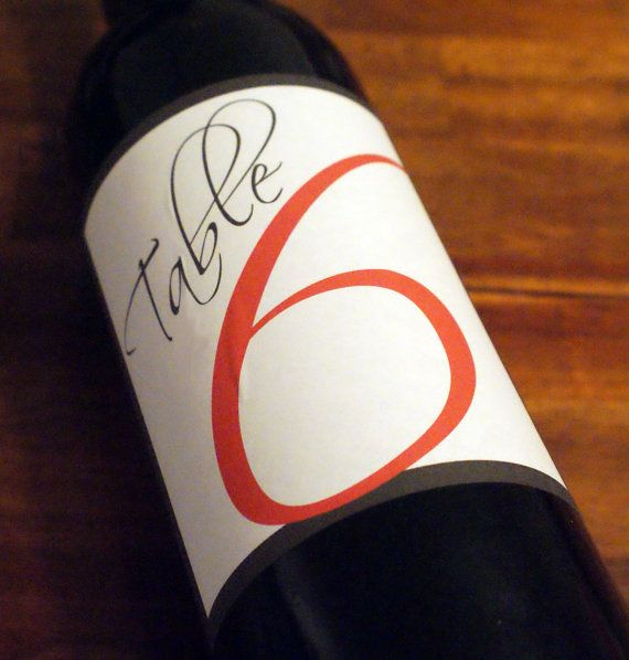 Table Numbers - Wine Labels - Etsy