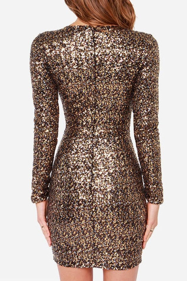New Year S Eve Dress All Over Gold Sequins Mini Formal 2k17 Homecoming Pinterest Sequin Dresses And