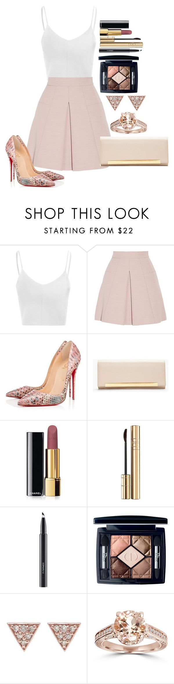 """""""Untitled #1269"""" by fabianarveloc on Polyvore featuring Glamorous, Alexander McQueen, Christian Louboutin, Yves Saint Laurent, Chanel, Dolce&Gabbana, MAC Cosmetics, Christian Dior and ADORNIA"""