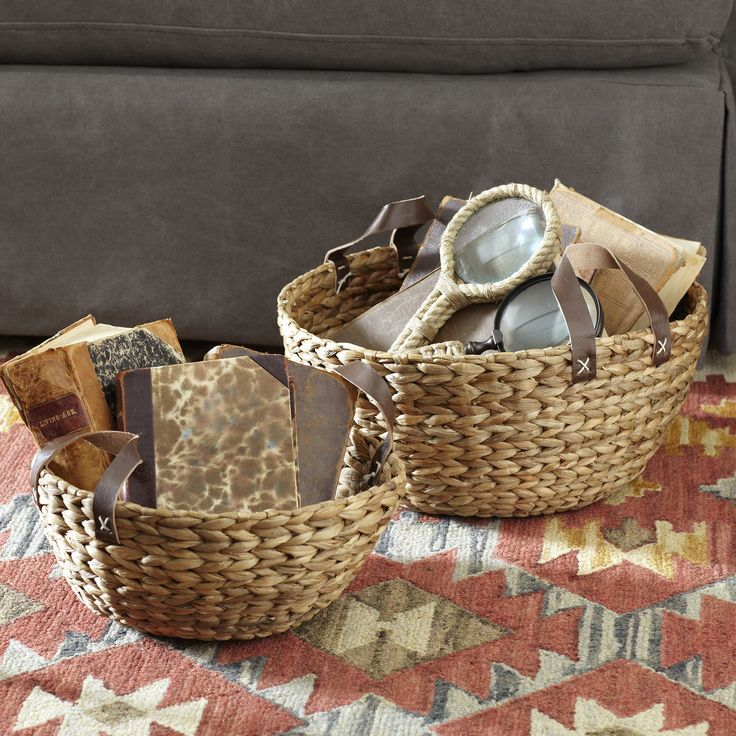 Water Hyacinth Baskets | Woven From Natural Water Hyacinth, These Sturdy  Baskets Offer Easy Storage