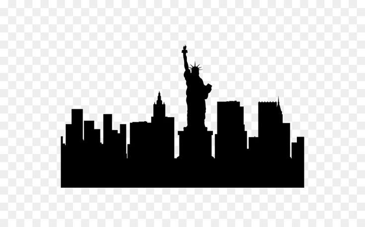New York City Cakrawala Siluet Gambar Png Siluet Kota New York New York
