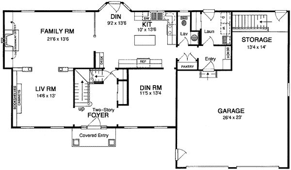 Traditional Center Hall Colonial - 19580JF | Colonial, Traditional, 2nd Floor Master Suite, Bonus Room, Den-Office-Library-Study, PDF | Architectural Designs