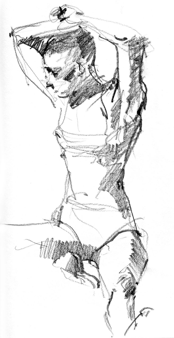 6B pencil in Stillman & Birn Alpha Series sketchbook, 8 1/2 x 11. 4 minute pose. http://drawingthemotmot.files.wordpress.com/2013/02/sara2.jpg