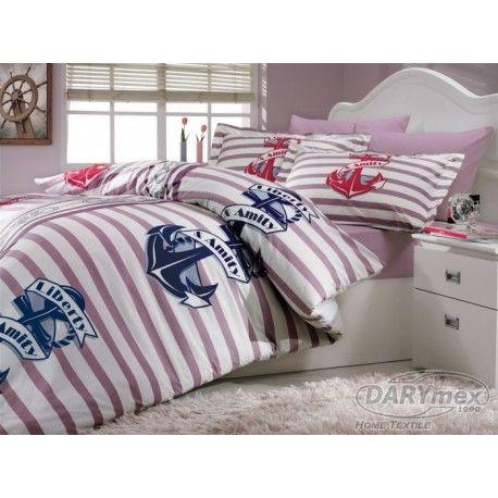 Marine style cotton bedlinen, HOBBY BERMUDA LILA, more on darymex.com and sklep.darymex.pl