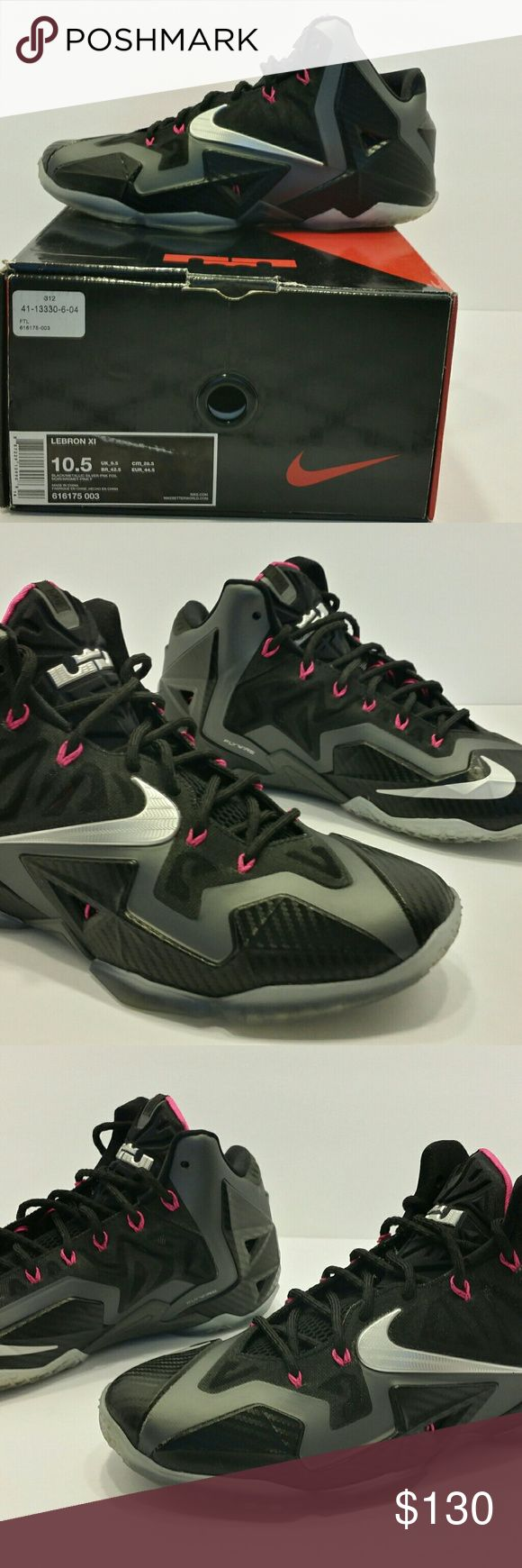 """Nike LEBRON 11 """"MIAMI NIGHT"""" 616175 003 sz 10.5 Excellent condition with original box, nice color scheme, good shoe to put in your collection Nike Shoes Athletic Shoes"""