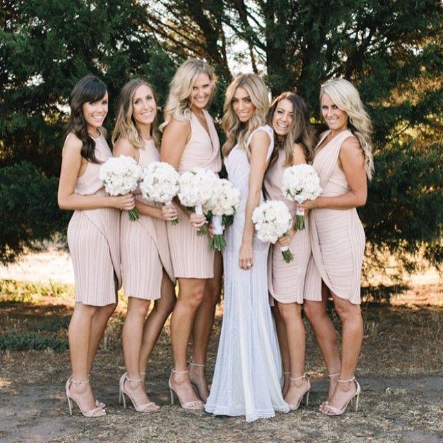 Blush bridesmaids #nikoscakes #wedding