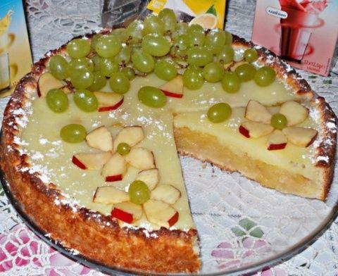 Нереально вкусный и нежный заливной яблочный пирог с начинкой, которая тает во рту!