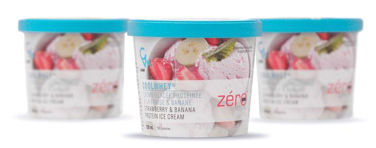 La nouvelle crème glacée protéinée #ZéroDiète à saveur de fraise banane est arrivée!