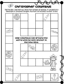 Christopher Columbus...Math Game FREEBIE!                                                                                                                                                                                 More