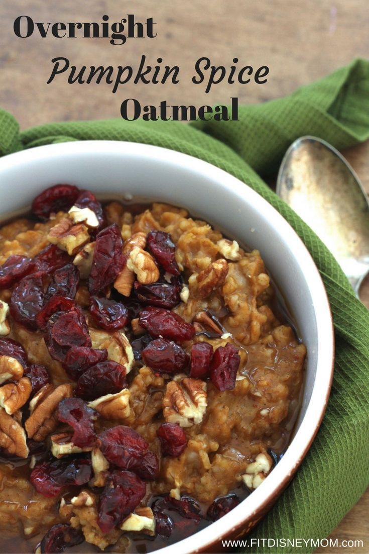 This Overnight Pumpkin Spice Oatmeal is hearty and healthy! It's easy to make and perfect on a cold Fall morning.