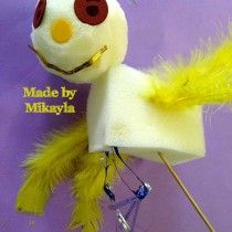 Super puppet made by Mikayla at the Camp Australia, Hughesdale Primary School Holiday Program today.
