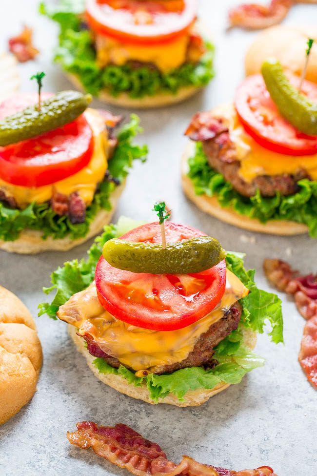 Grilled BLT Turkey Burgers