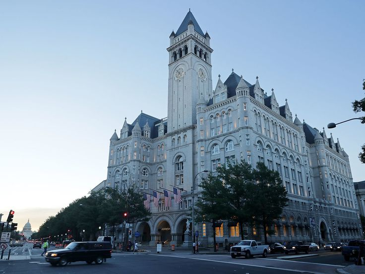 Liens filed by construction firms against the Trump Organization's new luxury Washington hotel claim they're owed more than $5 million for unpaid work. The federal government holds the building lease.