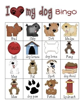I Love My Pet BINGO