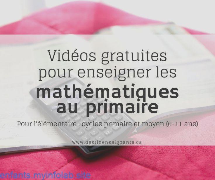 Videos Gratuites Pour Enseigner Les Mathematiques Au Primaire Elementaire C In 2020 Teaching Kids App Education