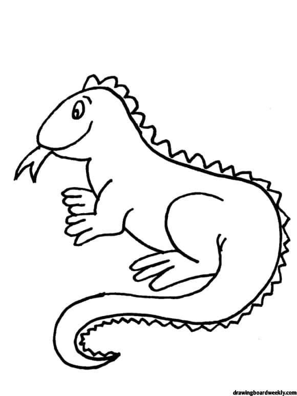 Iguana Coloring Page Coloring Pages Animal Coloring Pages Iguana
