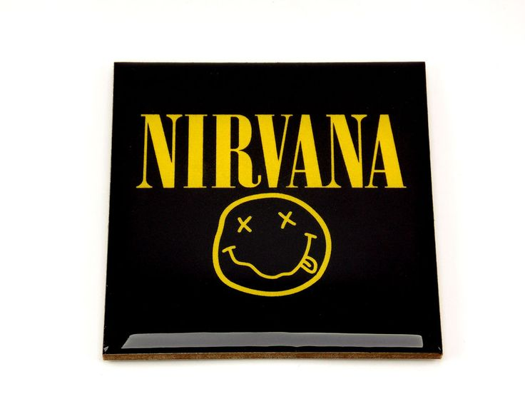 Nirvana Logo Drink Coaster Unique Gift MDF Wood by Osarix
