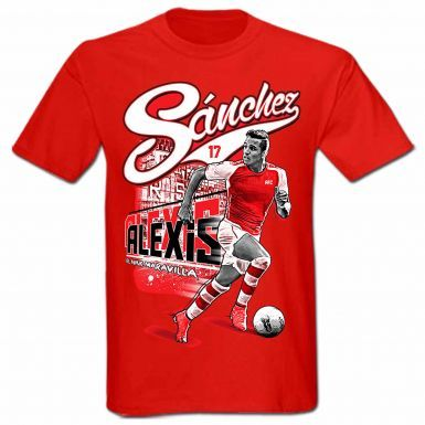 Buy Alexis Sanchez Arsenal FC & Chile Football T-Shirt