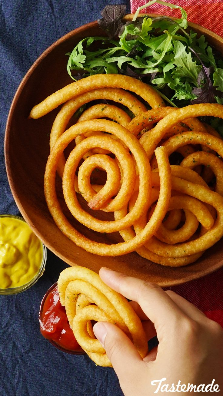 These crispy potatoes are like epic curly fries.