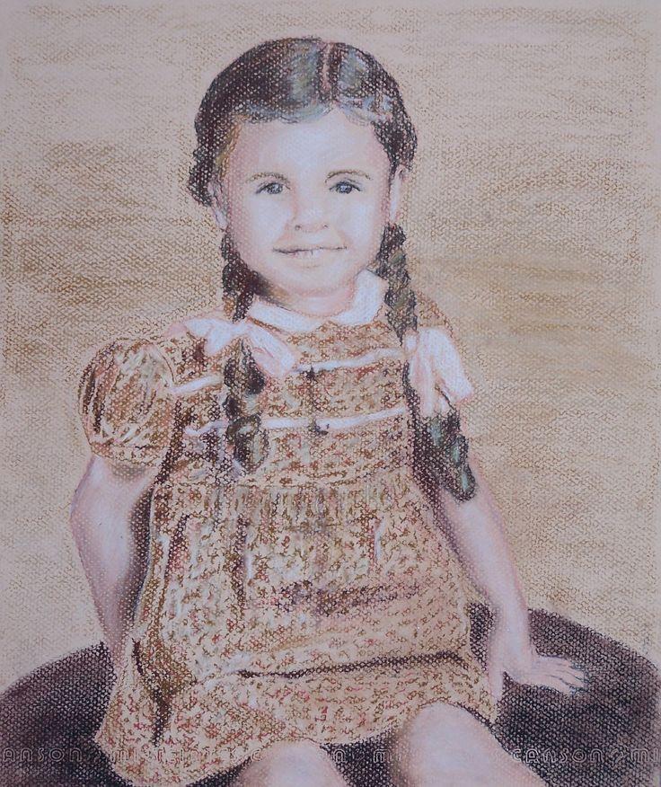 Di Wilson - Mom as a child - Pastel