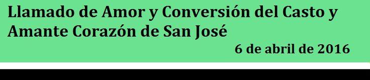 APOSTOLADO DE LOS SAGRADOS CORAZONES UNIDOS DE JESUS Y MARIA: MENSAJE RECIENTE DE SAN JOSE  Queridoshijos: Lesin...