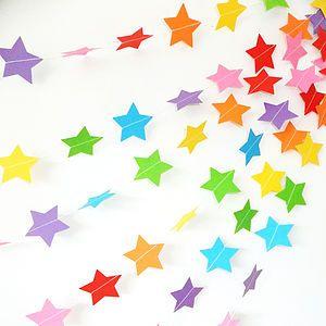 Rainbow Star Paper Garland - children's room accessories