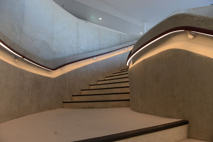 Bespoke Helical Style Stairway | Hiscox | The Light Lab | #lighatmosphere