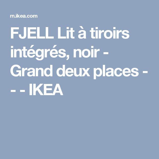 FJELL Lit à tiroirs intégrés, noir - Grand deux places - - - IKEA