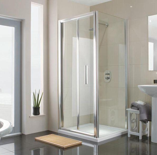 cream gloss tiles manhattan m8 760mm bifold shower door bi