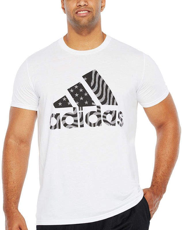 8dfb7a9492c25 adidas Short Sleeve Crew Neck T-Shirt-Big and Tall | Das in in 2019 ...