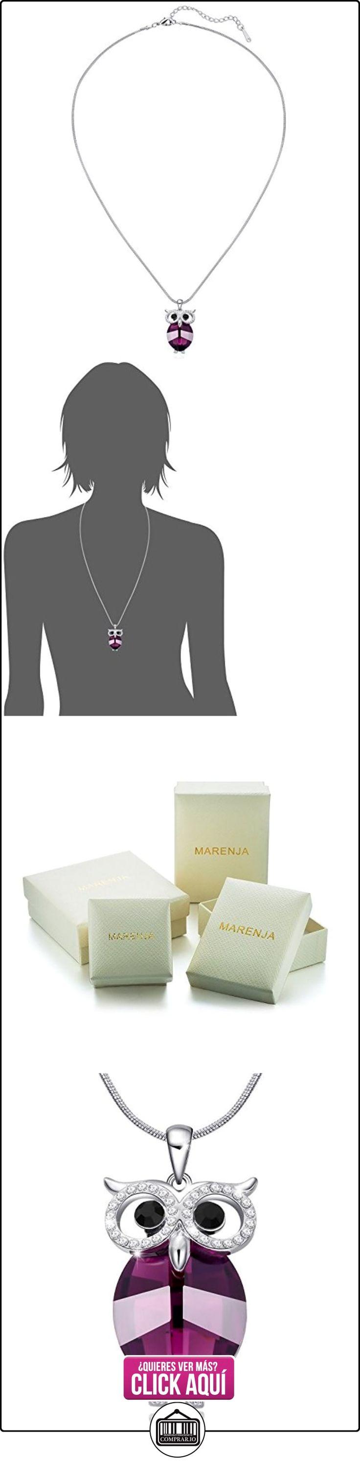Venta de liquidación MARENJA Cristal-Collares Mujer Búho Chapado en Oro Blanco Cristal Púrpura Negro 60-65cm  ✿ Joyas para mujer - Las mejores ofertas ✿ ▬► Ver oferta: https://comprar.io/goto/B00KMPHY0M