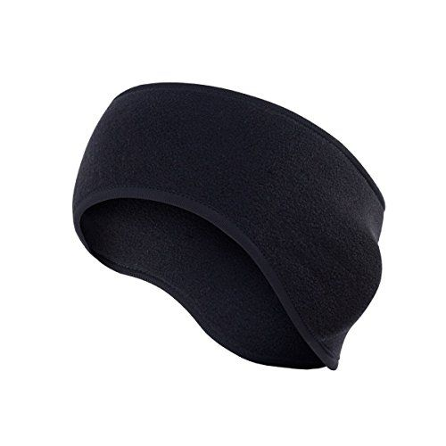 Polar Fleece Ear Warmers Headband/ Performance Stretch Ear Muffs for Men & Women Perfect for Winter Running Yoga Skiing Work out Riding bike in Cold and Freezing Days