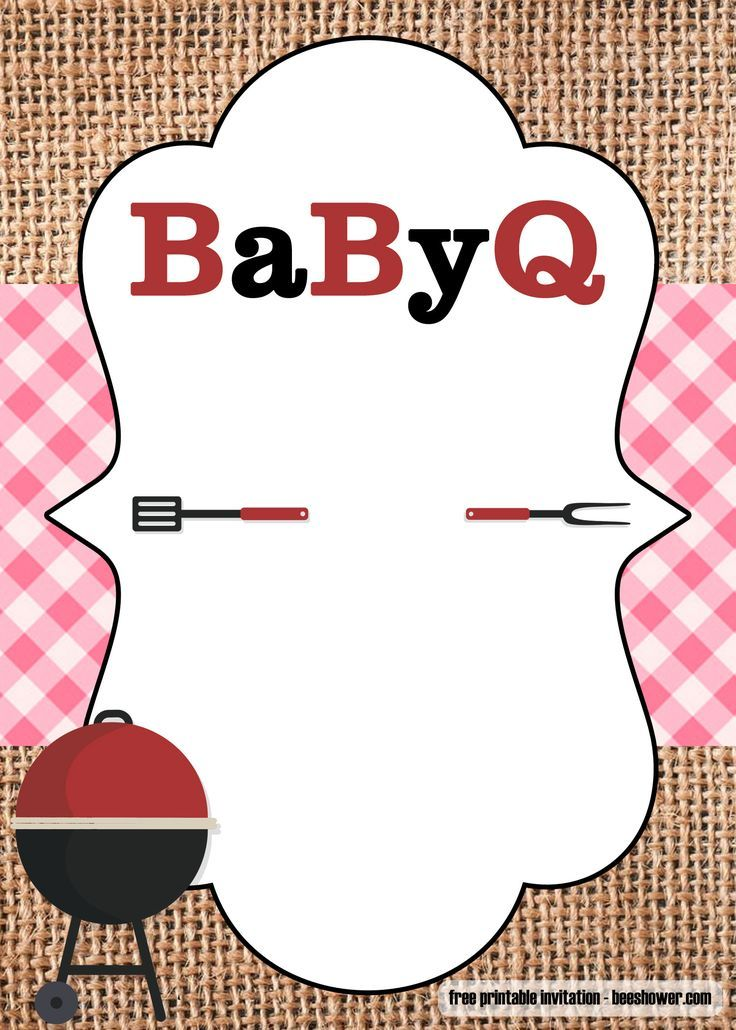 Download Free Printable Bbq Baby Shower Invitations Templates Bbq Baby Shower Invitations Baby Shower Bbq Free Baby Shower Invitations