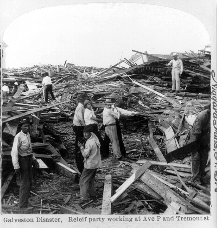 More than 8,000 people died in the Galveston (Texas) hurricane of 1900.