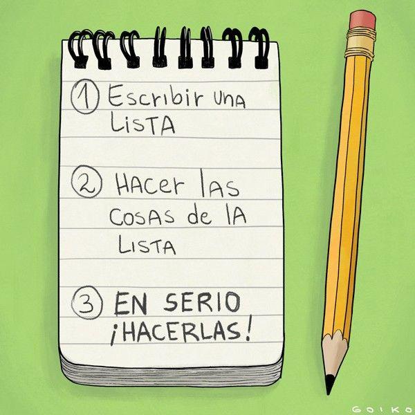 Escribir una lista de cosas que hacer y no hacer NADA de lo que escribimos ¿A quién no la ha pasado? Estos consejos debieran revertir esa situación - El Definido