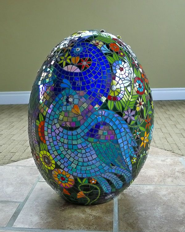 3D mosaic sculpture on terra cotta form.  I would love to see this piece find a home in a children's hospital, fertility clinic, or birthing center.