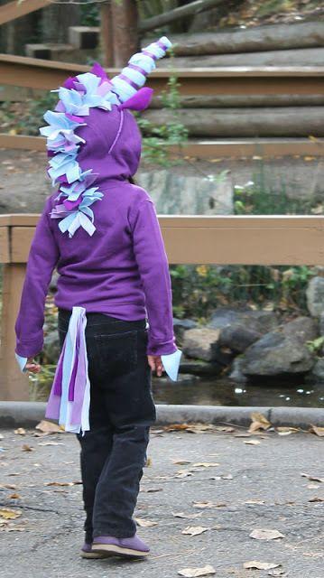 DIY Halloween Unicorn Hoodie Costume from Twin Dragonfly Designs...