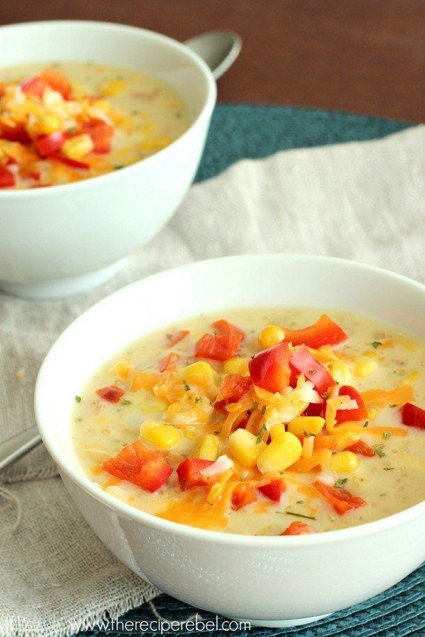 Quinoa Corn Chowder   Community Post: 22 Healthy And Delicious Quinoa Recipes To Spice Up Your Life
