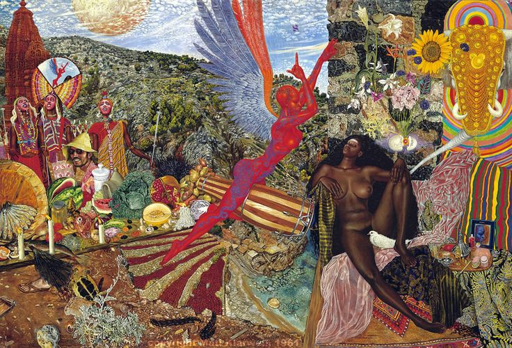 "Annunciation - Mati Klarwein (Used as cover for the Santana album ""Abraxas"")"