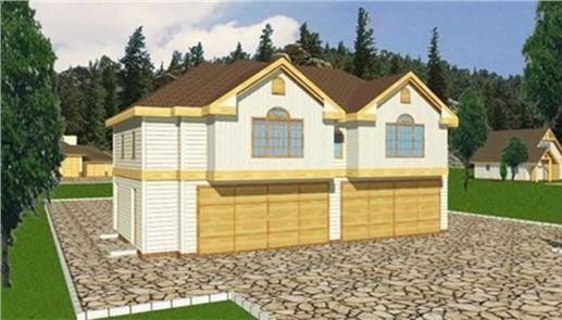 Standard frame four car garage three bedroom apartment for Garage apartment plans 4 bedroom