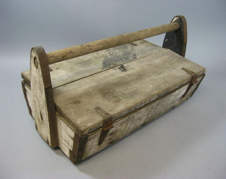 25 best images about antique tool boxes on pinterest for Old wooden box ideas
