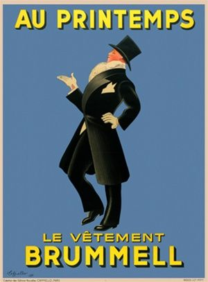 Title: Le Vetement Brummell Artist: Cappiello Circa: 1937 Origin: France