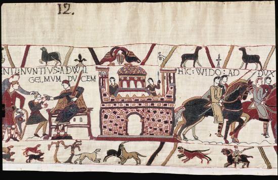 La Tapisserie de Bayeux (UNESCO) Tapisserie de Bayeux - fin du XIe siècle - broderie sur lin - conquête d Angleterre par les Normands (1064-1066).  Mille ans de manga - Brigitte Koyama - Richard.