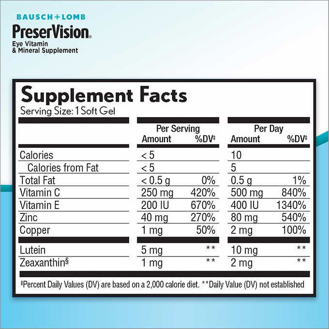 Preservision Areds 2 Formula 210 Soft Gels Eye Vitamins Gel Doctor Recommended