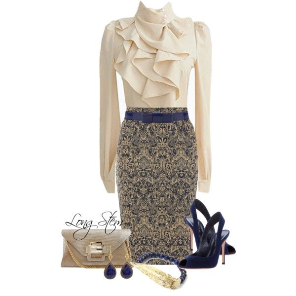 A fashion look from July 2014 featuring Dorothy Perkins skirts, Gianvito Rossi pumps and Kara Ross clutches. Browse and shop related looks.