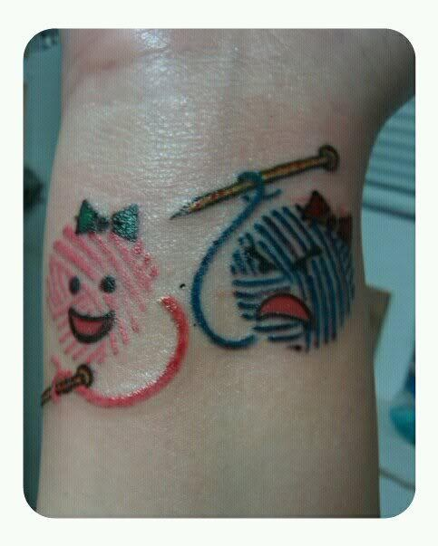 cute knitting tattoo!      ------- ok, maybe not with henna, but this is hilarious!!