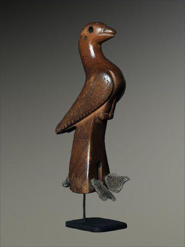Charming antique hand carved bird slingshot ethnic folk art from Guatemala