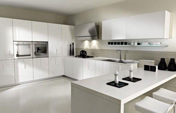 Kitchen Design, White Porcelain Kitchen Floor Ideas With White Kitchen Island…