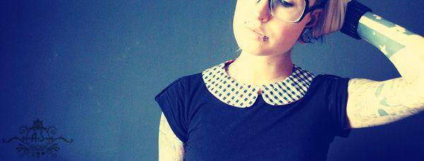 Un DIY de col claudine à réaliser soi même et très simplement pour un résultat très trendy ! Customisez vos tenues à l'aide d'un petit col claudine girly !