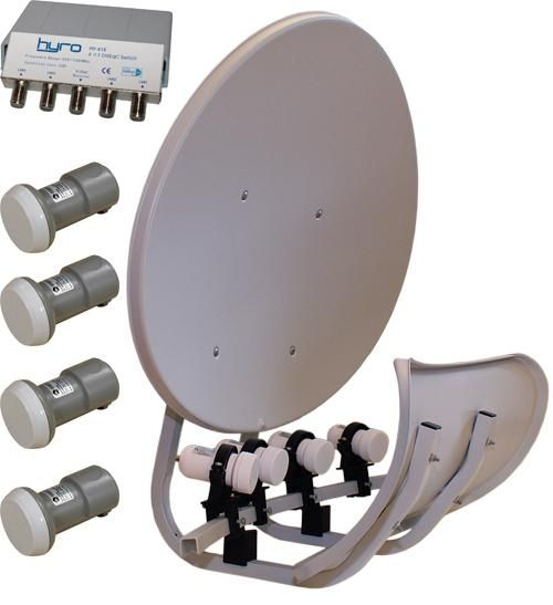 Toroidal 55 cm. inkl. 4xLNB+DiSEqC   Satelittservice tilbyr bla. HDTV, DVD, hjemmekino, parabol, data, satelittutstyr